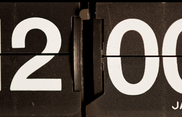 Flip Clock 1 – 12am