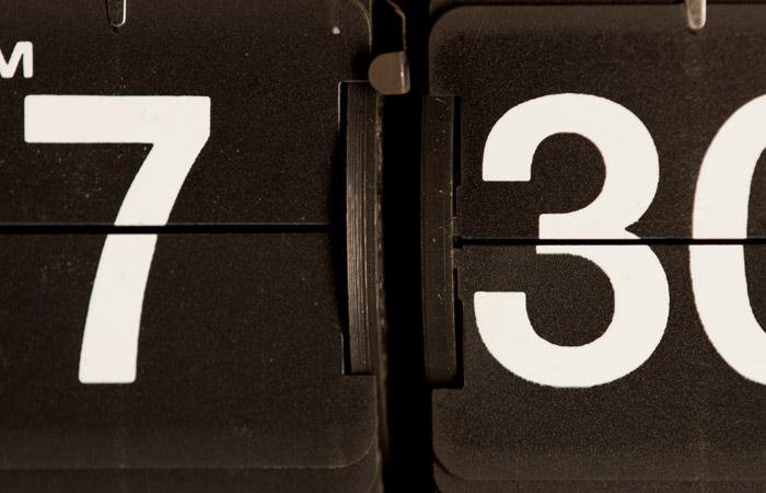 Flip Clock 16 – 7:30am