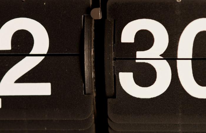 Flip Clock 30 – 2:30pm