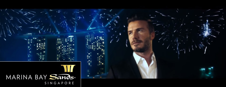 Sands Casino Resorts ad campaign starring David Beckham